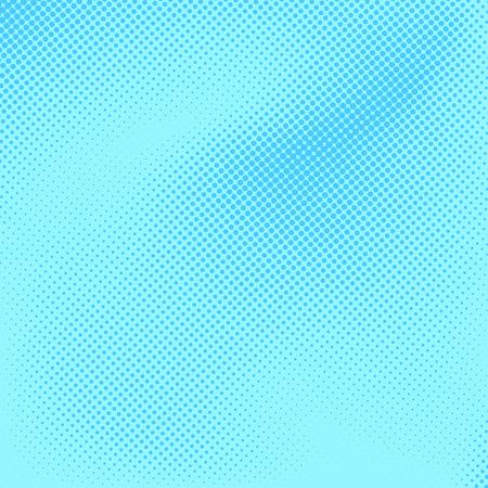 Blue childish pop art style card layout. Vector illustration Illustration