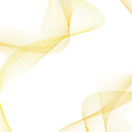 サテンの柔らかい穏やかな金色のライン レイアウト。抽象的なブレンドは、モダンなオレンジ明るいハーフトーンきれいなカーブをシューッという