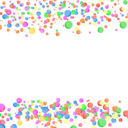 Bright parti-colored abstract confetti card. Vector illustration