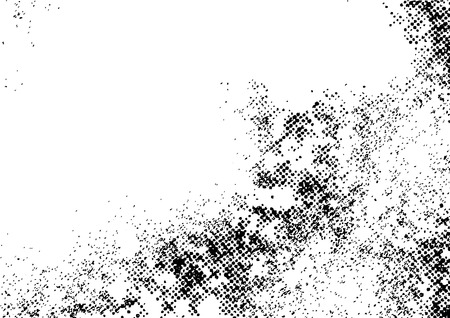 Distressed dotted black and white vintage overlay background. Vector illustration