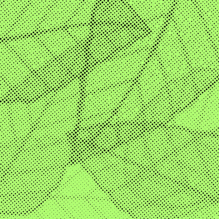 Bright green background with halftone polka dot effect leaf pattern. Easy to apply vintage grain overlay graphic effect. Vector illustration Illustration