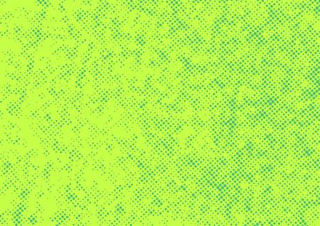 Bright green abstract halftone polka dot retro style background. Vector illustration Illustration