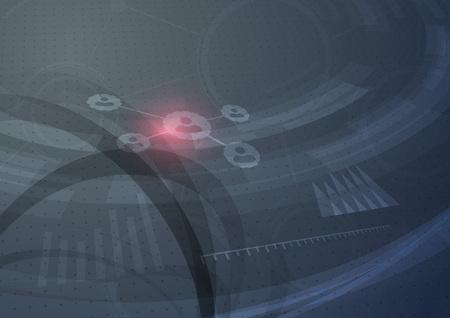 User relations technology network abstract modern hi-tech background. Vector illustration Illustration