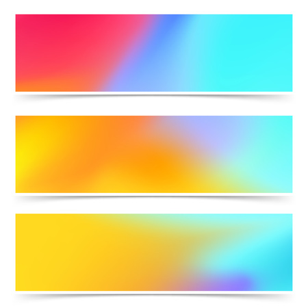Bright color harmony stylish abstract web header collection. Vector illustration
