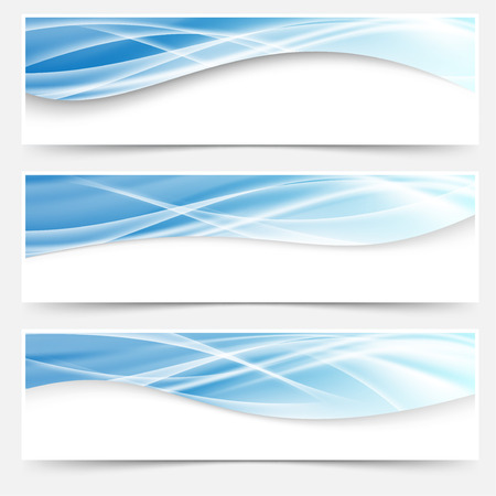 Futuristic fashion abstract light wave pattern header collection. Vector illustration