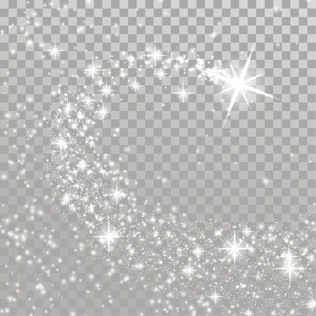 Bright Shooting Christmas magische ster over geruite lay-out. Vuurwerk explosie trail abstracte vakantie partij achtergrond. Voorraad vectorillustratie.