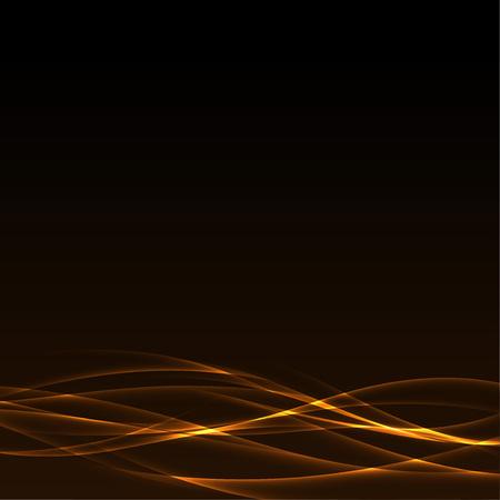 Mystic abstract orange smoke elegant wave line pattern background Vector illustration