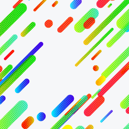 Bright childish colorful modern trendy design lines. Vector illustration