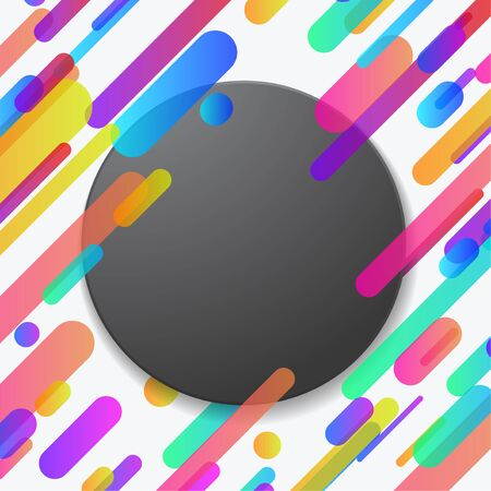 Bright futuristic abstract trendy lines banner layout. Сolorful Neon Minimalistic Material design Contemporary poster background. Vector illustration Illustration