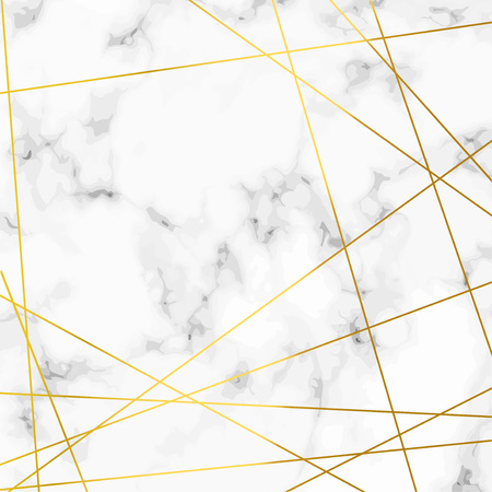 Luxurious marble stone realistic pattern with golden lines over. Vector illustration Illustration