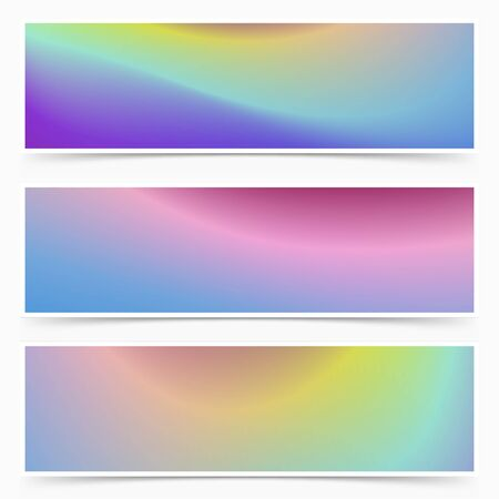 Bright mistery sky shine light abstract card collection. Vector illustration