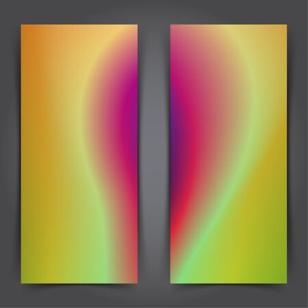 Two modern abstract soft gradient poster design templates. Vector illustration