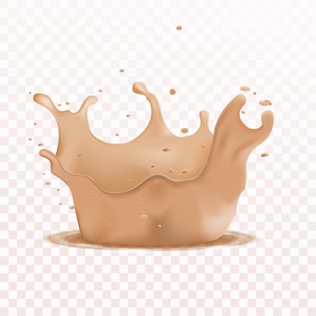 Soft liquid foundation effects droplet. realistic 3d elegant background. Vector illustration 向量圖像