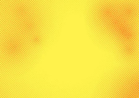 Pop art orange dots grain pattern