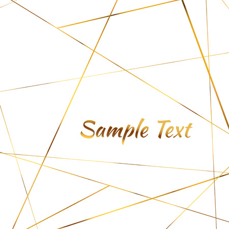 Bright golden triangle pattern chic invitation background design. Minimal print card background with space for text. Vector illustration