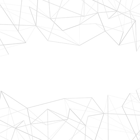 Grey interconnected lines over white background conceptual background. Vector illustration Ilustrace