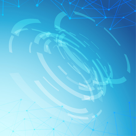 Futuristic abstract gear wheel over light blue gradient layout. Vector illustration Illusztráció