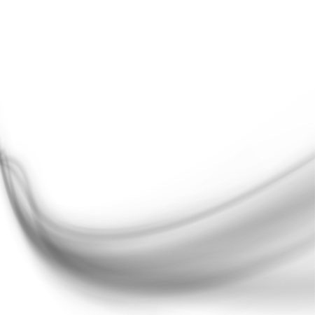 Grey mild smoke transparent soft waves over white background. Vector illustration Illusztráció