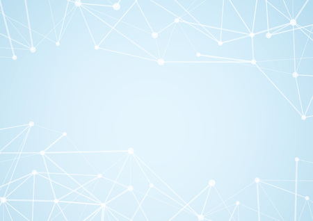 Modern blue atom connection concept graphical background. Vector illustration