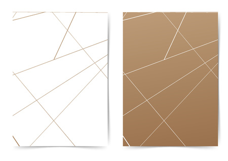 Minimal thin line abstract triangular pattern folder design. Vector illustration