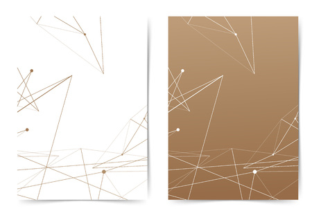 Minimal connection thin lines folder design layout template. Vector illustration