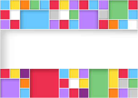 Bright modern square colorful pattern background design. Vector illustration