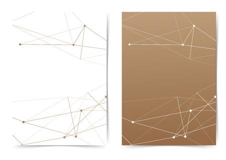 Abstract thin line pattern modern folder design collection. Vector illustration Ilustrace