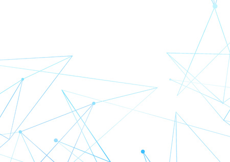 Minimal abstract blue thin lines over white pattern. Vector illustration