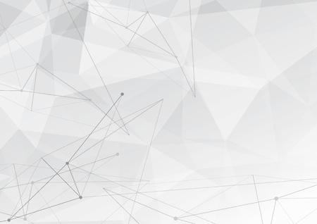 Modern low poly triangle background with hi-tech connected lines pattern. Vector illustration