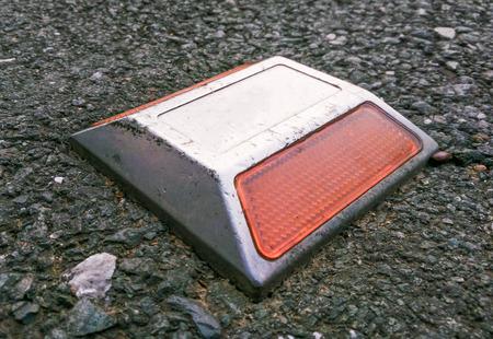 Autobahn Reflektierende Straßenmarkierungen