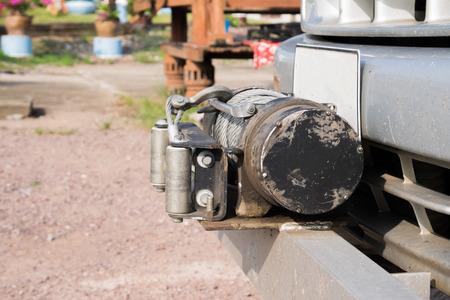 winch: Winch - offroad equipment Stock Photo