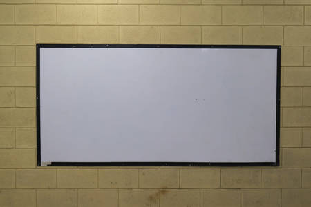 Old white board Stick on the old flap