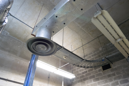 air duct and ventilation systems in Factory