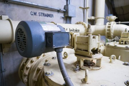 Electrical Motor used to open and close the water valve. Stok Fotoğraf