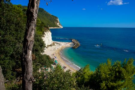 Sirolo Beach, Adriatic, Marche, Italy, spiaggia, holiday, sun, Riviera del Conero 版權商用圖片