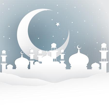 nights: Ramadan Kareem greeting. Arabian nights. Vector Illustration. Illustration