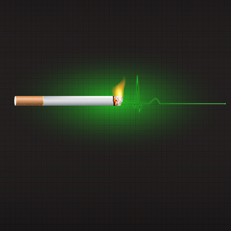 inhalation: World no tobacco day, 31st May, a concept for stop and anti smoking a cigarette.