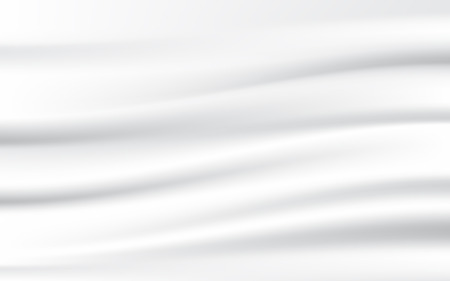 Abstract white textile, smooth and silky fabric swaying. Vector illustration texture background.