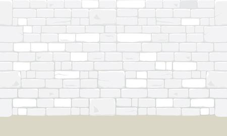 White bricks blocks wall texture background. Vector illustration. Illustration