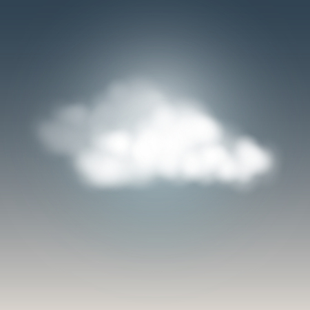 Weather icon, cloudy sky. Vector illustration.