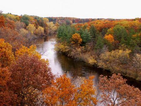 Eau Claire River Stock Photo