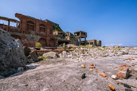 Ruins of Gunkanjima, a World Heritage Site in Nagasaki