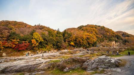 Chichibu Nagatoro landscape with autumn color
