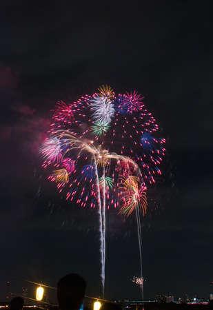 Fireworks display festival at Toda park