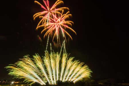 Fireworks festival in Ibaraki Stock Photo