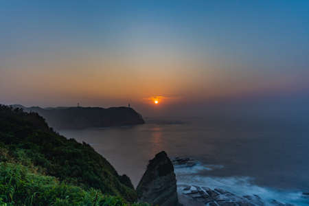 Beautiful sunrise from Chiba Katsuura