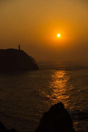 Beautiful sunrise from Chiba Katsuura Stockfoto