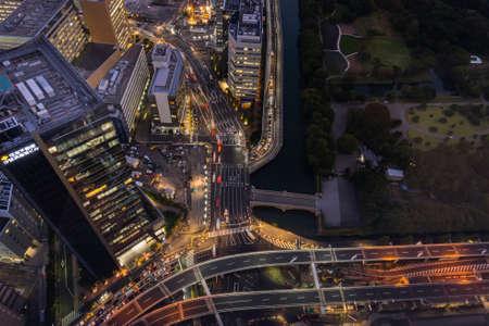 Night cityscape around Shiodome 写真素材