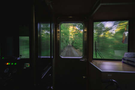 from the window of the running train