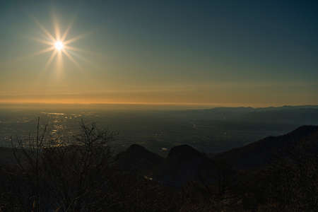 The first sunrise from the top of Mt. Haruna 写真素材